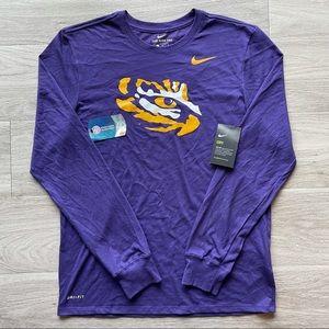 NEW Nike LSU long sleeve tee men's size M purple.